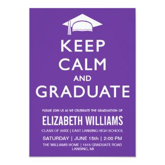 Keep Calm and Graduate Invitation - Purple