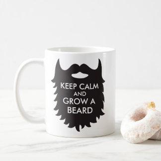 Keep Calm And Grow A Beard Coffee Mug