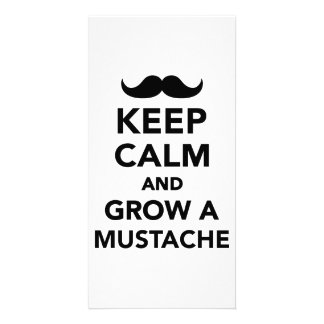 Keep calm and grow a Mustache Photo Card
