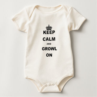 KEEP CALM AND GROWL ON BABY BODYSUIT