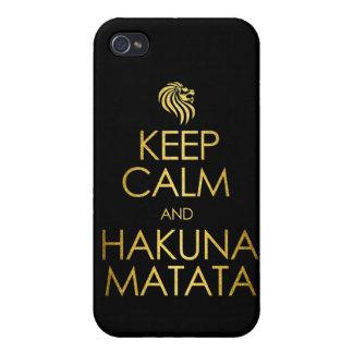 Keep Calm and Hakuna Matata Cover For iPhone 4