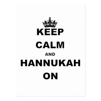 KEEP CALM AND HANNUKAH ON POSTCARD