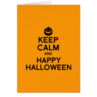KEEP CALM AND HAPPY HALLOWEEN - png Cards