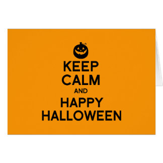 KEEP CALM AND HAPPY HALLOWEEN - png Greeting Cards