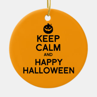 KEEP CALM AND HAPPY HALLOWEEN - png Christmas Tree Ornaments