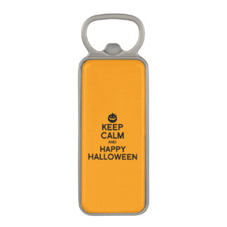 KEEP CALM AND HAPPY HALLOWEEN -.png Magnetic Bottle Opener