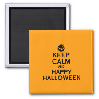 KEEP CALM AND HAPPY HALLOWEEN - png Fridge Magnet