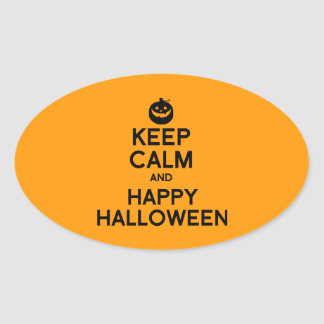 KEEP CALM AND HAPPY HALLOWEEN -.png Stickers