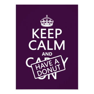 Keep Calm and Have a Donut Card
