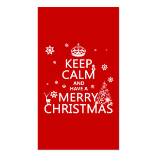Keep Calm and Have A Merry Christmas (change color Pack Of Standard Business Cards
