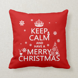 Keep Calm and Have a Merry Christmas Cushion