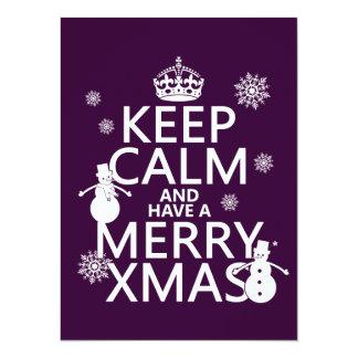 Keep Calm and Have A Merry Xmas (Christmas) 14 Cm X 19 Cm Invitation Card
