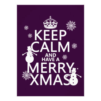 Keep Calm and Have A Merry Xmas Christmas Personalized Invite