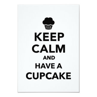 Keep calm and have Cupcake Custom Announcements