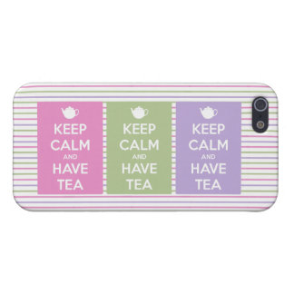 Keep Calm and Have Tea Collage Case For iPhone 5/5S