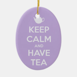 Keep Calm and Have Tea Lavender Ornament