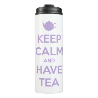 Keep Calm and Have Tea Lavender Personalised Thermal Tumbler