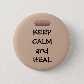 Keep Calm and Heal 6 Cm Round Badge
