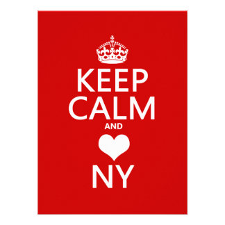 Keep Calm and Heart New York customisable colors Invite