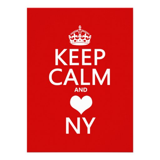 Keep Calm and Heart New York (customisable colors) Invite