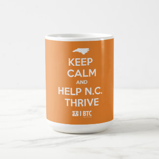 """Keep Calm and Help N.C. Thrive"" mug"