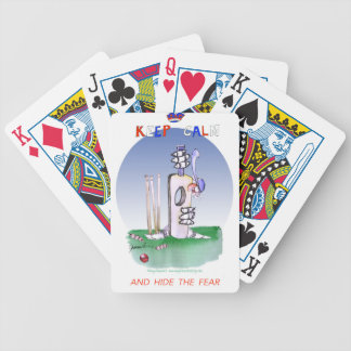 keep calm and hide the fear, tony fernandes poker deck