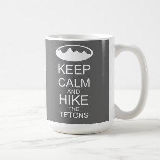 KEEP CALM and hike the tetons grey Basic White Mug