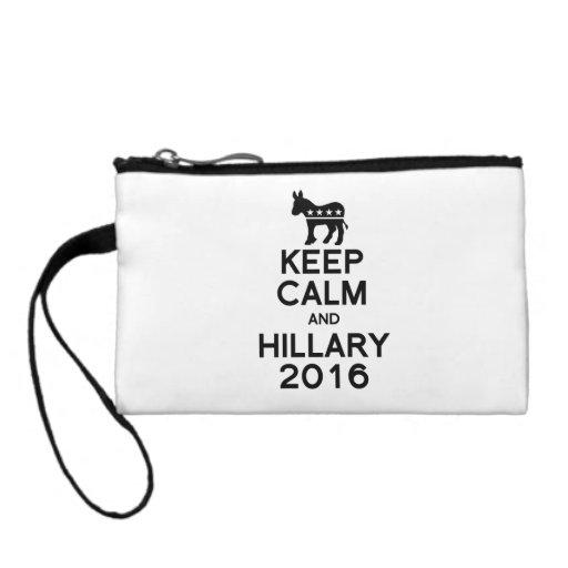 KEEP CALM AND HILLARY 2016 COIN PURSE