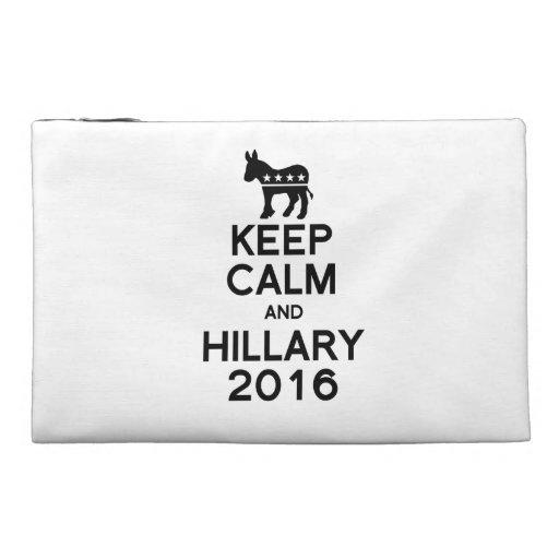 KEEP CALM AND HILLARY 2016 TRAVEL ACCESSORY BAG