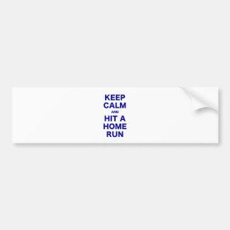 Keep Calm and Hit a Home Run Car Bumper Sticker