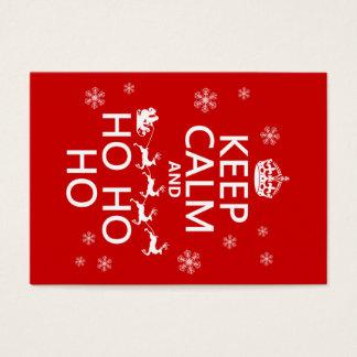 Keep Calm and Ho Ho Ho - Christmas/Santa