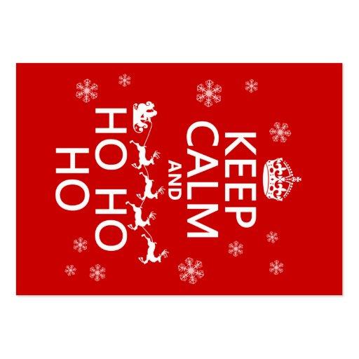 Keep Calm and Ho Ho Ho - Christmas/Santa Business Card Templates