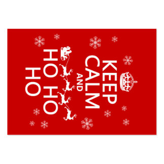 Keep Calm and Ho Ho Ho - Christmas/Santa Pack Of Chubby Business Cards