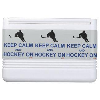Keep Calm and Hockey On - Igloo Cooler