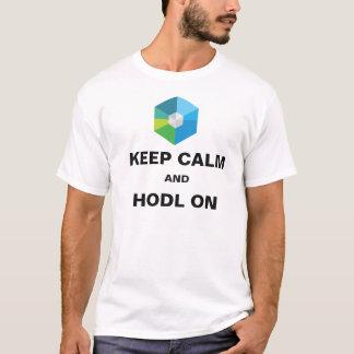 Keep Calm and HODL on - XRB Logo design T-Shirt