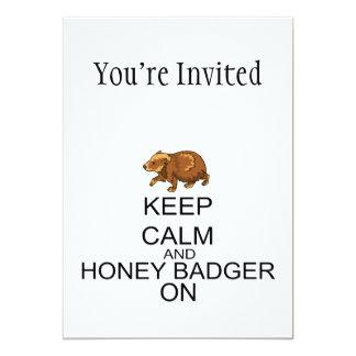Keep Calm And Honey Badger On 13 Cm X 18 Cm Invitation Card