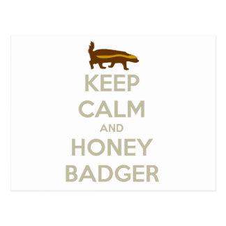 Keep Calm and Honey Badger Postcard