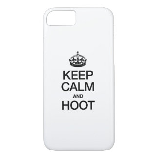 KEEP CALM AND HOOT iPhone 7 CASE