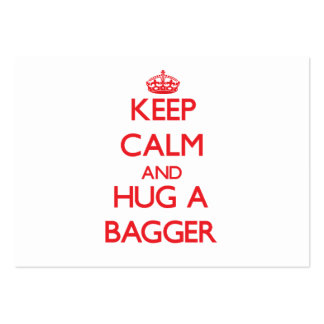 Keep Calm and Hug a Bagger Large Business Cards (Pack Of 100)