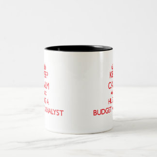 Keep Calm and Hug a Budget Analyst Coffee Mugs