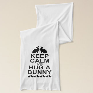 Keep Calm and Hug a Bunny Scarf (for Light Colours