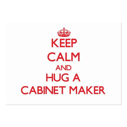 Keep Calm and Hug a Cabinet Maker Business Card Templates