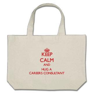 Keep Calm and Hug a Careers Consultant Canvas Bag
