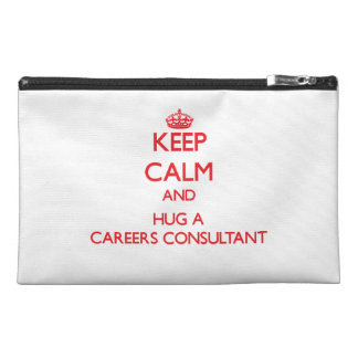 Keep Calm and Hug a Careers Consultant Travel Accessories Bags