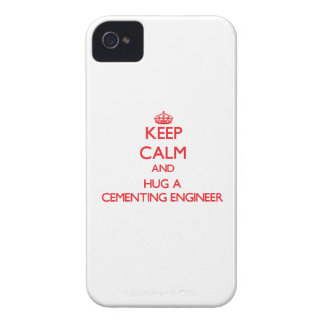 Keep Calm and Hug a Cementing Engineer iPhone 4 Cover