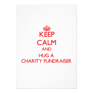 Keep Calm and Hug a Charity Fundraiser Announcements
