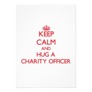 Keep Calm and Hug a Charity Officer Custom Invite