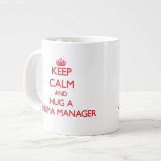 Keep Calm and Hug a Cinema Manager Extra Large Mug