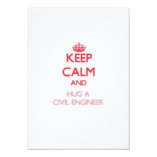 Keep Calm and Hug a Civil Engineer 13 Cm X 18 Cm Invitation Card
