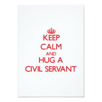 Keep Calm and Hug a Civil Servant 13 Cm X 18 Cm Invitation Card